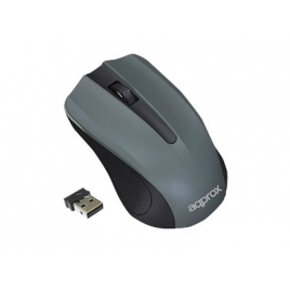 Mouse Approx Wireless Optico Micro Mouse Grey USB
