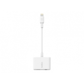 Adaptador Belkin Lightning Macho / Audio + Lightning Hembra