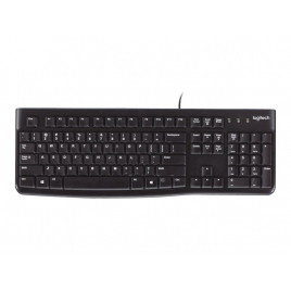 Teclado Logitech K120 Keyboard Black USB Portugues