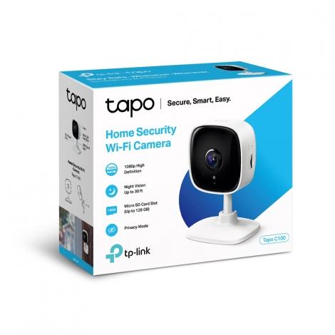 Camara IP TP-LINK Tapo C100 Domestica FHD WIFI Dia/Noche