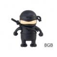 Memoria USB Silver HT 8GB ONE Ninja Black