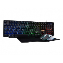 Teclado + Mouse Deep Gaming Deep Team V2 USB Black + Alfombrilla Coolbox