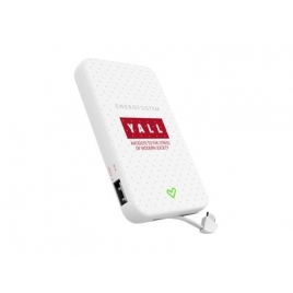 Bateria Externa Universal Energy 5.000MAH Micro USB Yall Edition White