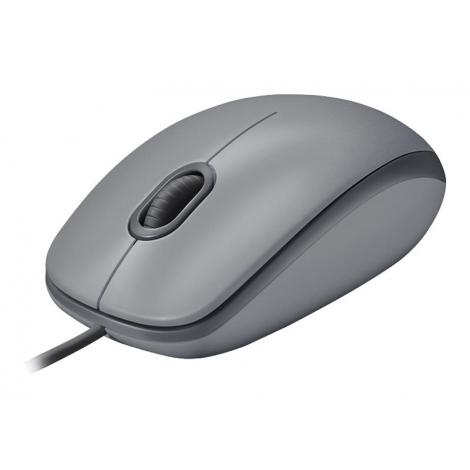 Mouse Logitech Optical Wheel Mouse M110 Silent USB Medium Grey