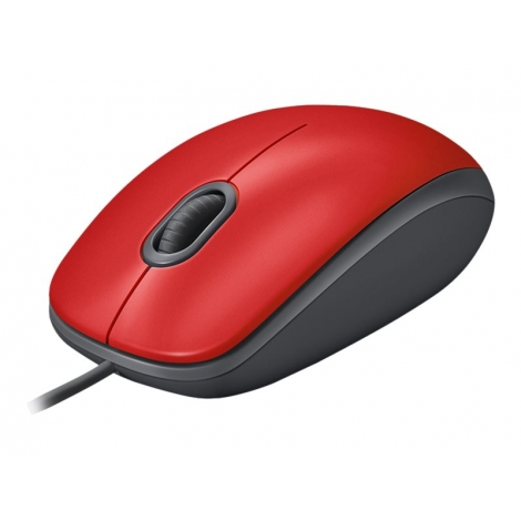 Mouse Logitech Optical Wheel Mouse M110 Silent USB red