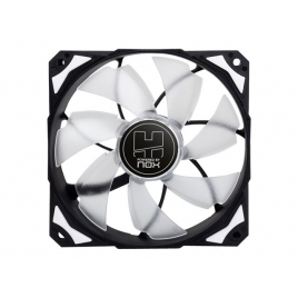 Ventilador 12CM 120X120x25mm NOX H-FAN LED White