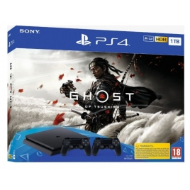 Consola Sony PS4 Slim 1TB + Ghost OF Tsushima + Mando