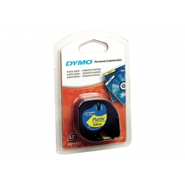 Rollo Dymo Letratag 12Mmx4m Yellow/Black