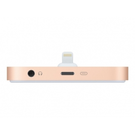 Base Dock Apple Lightning Gold para iPhone