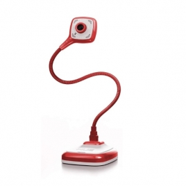 Webcam HUE HD PRO + MIC Flexible 30FPS 360º red / White