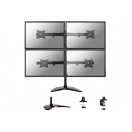 Soporte Monitor Escritorio Newstar NM-D335D 4 Monitores Black