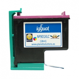 Cartucho Reciclado Iggual HP 901XL Color 3X6ML