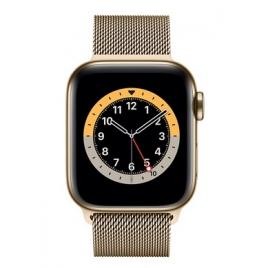 Apple Watch Serie 6 GPS + 4G 40MM Gold Stainless Steel + Correa Milanese Loop Gold