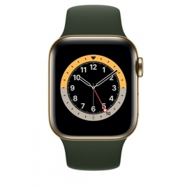 Apple Watch Serie 6 GPS + 4G 40MM Gold Stainless Steel + Correa Sport Cyprus Green