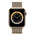 Apple Watch Serie 6 GPS + 4G 44MM Gold Stainless Steel + Correa Milanese Loop Gold