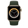 Apple Watch Serie 6 GPS + 4G 44MM Gold Stainless Steel + Correa Sport Cyprus Green
