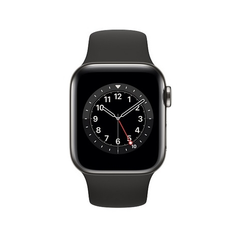 Apple Watch Serie 6 GPS + 4G 44MM Graphite Stainless Steel + Correa Sport Black