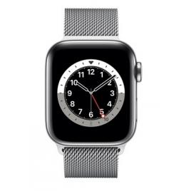 Apple Watch Serie 6 GPS + 4G 44MM Silver Stainless Steel + Correa Milanese Loop Silver