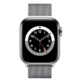 Apple Watch Serie 6 GPS + 4G 44MM Silver Stainless Steel + Correa Milanese Loop Silver