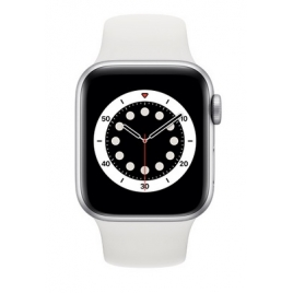 Apple Watch Serie 6 GPS 40MM Silver Aluminium + Correa Sport White