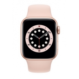 Apple Watch Serie 6 GPS 44MM Gold Aluminium + Correa Sport Pink Sand
