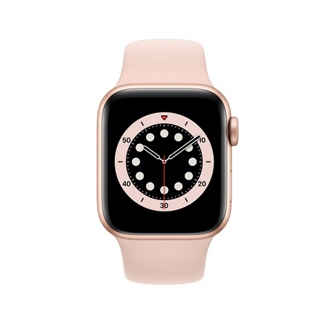 Apple Watch Serie 6 GPS 44MM Gold Aluminium + Correa Sport Pink Sand