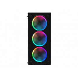 Caja Mediatorre ATX Mars Gaming MCG RGB USB 3.0 Black / Cristal