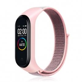 Correa Cool para Xiaomi mi Band 3 / mi Band 4 Loop Nylon Pink