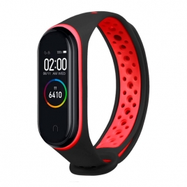 Correa Cool para Xiaomi mi Band 3 / mi Band 4 Sport Black / red