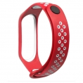 Correa Cool para Xiaomi mi Band 3 / mi Band 4 Sport red / White