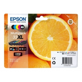 Cartucho Epson 33XL Multipack Expression Home XP-63 830 Expression Premium XP-530