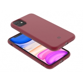 Funda Movil Back Cover Celly Leaf red para iPhone 11