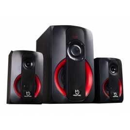 Altavoces Bluetooth Hiditec H400 2.1 40W USB SD Black/Red
