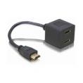 Adaptador Kablex HDMI 19 Macho / 2X HDMI 19 Hembra 0.3M