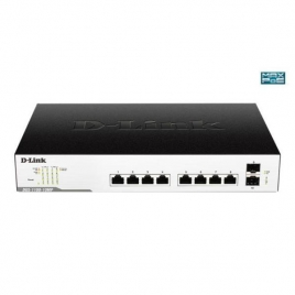 Switch D-LINK DGS-1100-10MP 10/100/1000 8 Puertos POE + 2 SFF