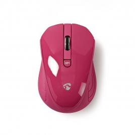 Mouse Nedis Wireless Msws400 1600 DPI Pink