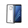Funda Movil Back Cover Celly Laser Matt Transparente/Black Samsung A8 2018