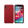 Funda iPhone XS Apple Leather Case red