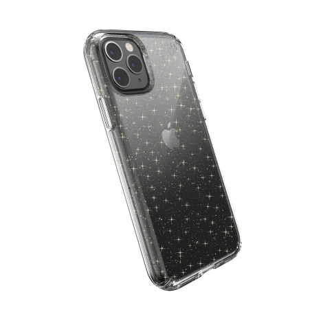 Funda Movil Back Cover Speck Presidio Clear Gold Glitter Transparent iPhone 11 PRO