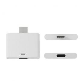 Adaptador Kablex USB-C Macho / Lightning Hembra White