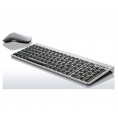 Teclado + Mouse Lenovo Wireless SK-8861  Silver
