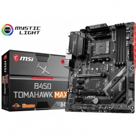 Placa Base Msi AMD B450 Tomahawk MAX Socket AM4 ATX Grafica DDR4 Glan USB 3.2 USB-C Audio 7.1