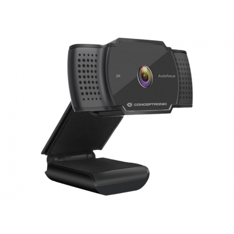 Webcam Conceptronic Amdis HD 2K Black