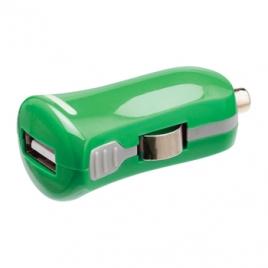 Cargador USB HT 5V 2.1A Green para Coche