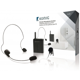 Sistema Inalambrico Nedis Microfono con Transmisor