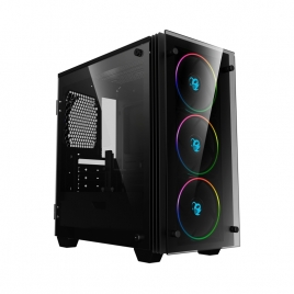 Caja Mediatorre Matx Deep Gaming Deep Rainbow Argb USB 3.0 Window Black
