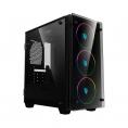 Caja Mediatorre Matx Deep Gaming Deep Rainbow Argb USB 3.0 Window Black