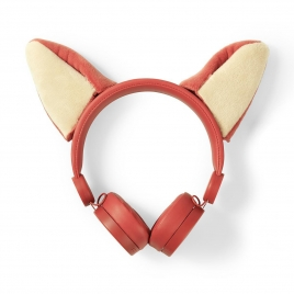 Auricular Nedis Animaticks FOX Magnetico Orange