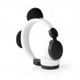 Auricular Nedis Animaticks Panda Magnetico White/Black