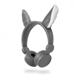Auricular Nedis Animaticks Wolf Magnetico Grey